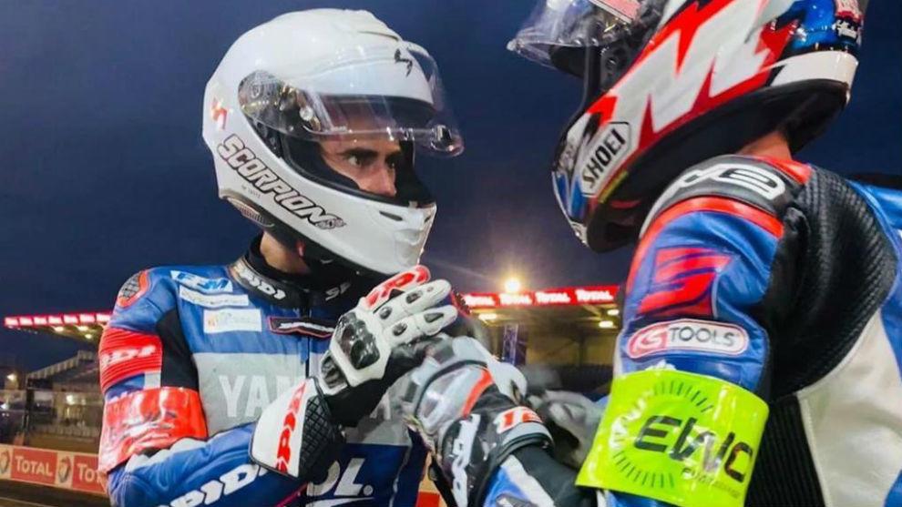 Nico Terol, en la 24H de Le Mans, con Marino.