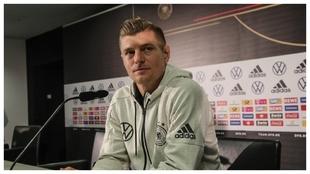 Toni Kroos, durante una rueda de prensa de su selección.