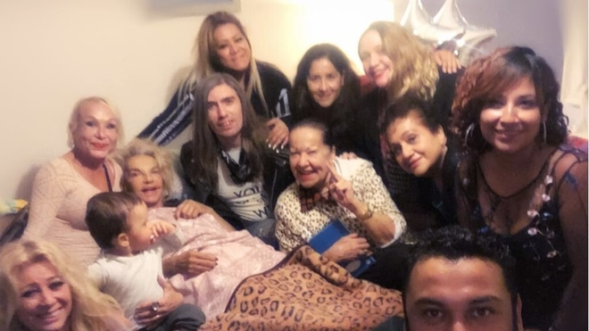 Wanda y su familia.