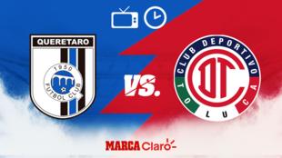Querétaro vs Toluca, hora y dónde ver