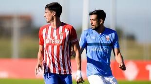 Imagen del partido que han disputado este jueves Sporting y UD...