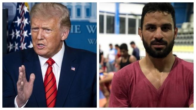 Trump y el luchador iraní condenado
