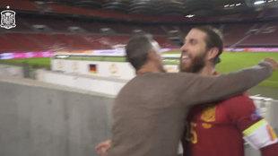 Las impresiones de Ramos y el consejo de Luis Enrique... gran feeling entre míster y capitán