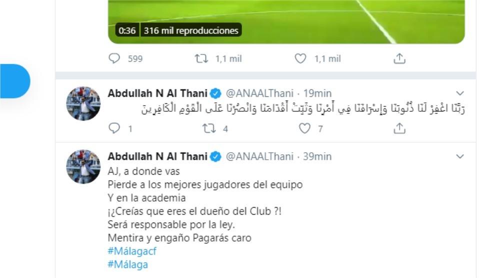 Twtter de Al-Thani