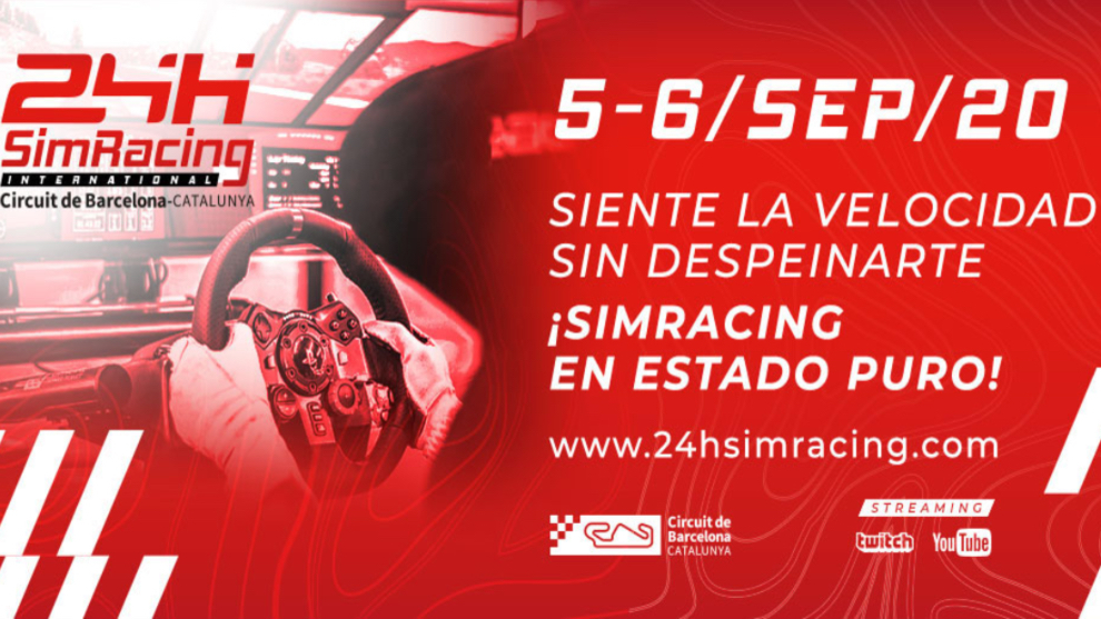 Cartel de las 24h SimRacing en el Circuit de Catalunya