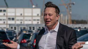 Elon Musk, en su reciente viaje a Alemania.