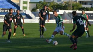 Durante el partido amistoso disputado esta tarde en Marbella