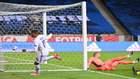 Mbappé celebra su gol a Suecia