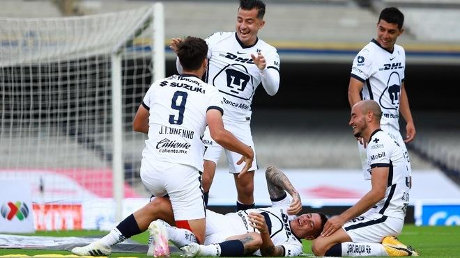 Dinneno volvió a marcar en la victoria de Pumas.