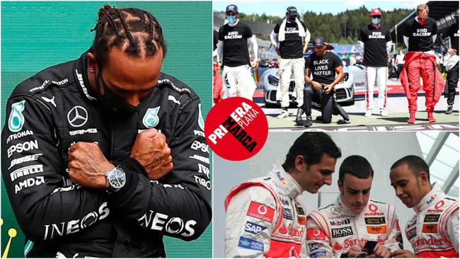 Lewis Hamilton, en varias imágenes de su trayectoria.