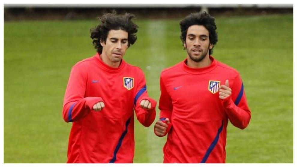 Tiago y Sílvio, juntos en su etapa en el Atlético.