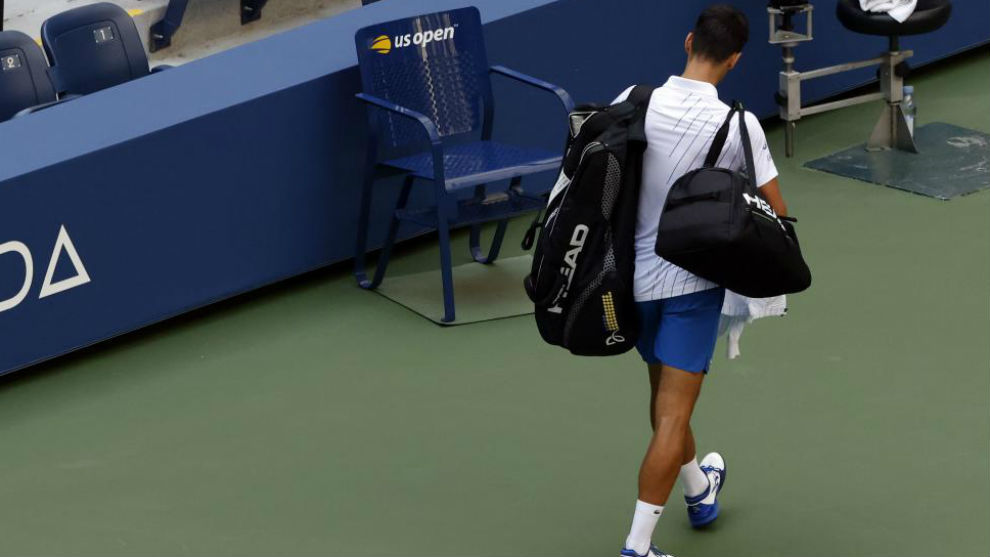 Djokovic abandona la central Arthur Ashe