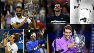 Los últimos seis campeones de torneos de 'Grand Slam'