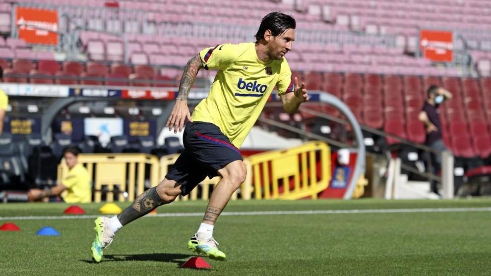 Leo Messi, en una sesión.