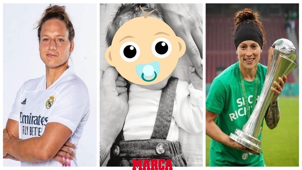 La futbolista del Real Madrid  Babett y su pareja Ella dan la bienvenida a su primer hijo