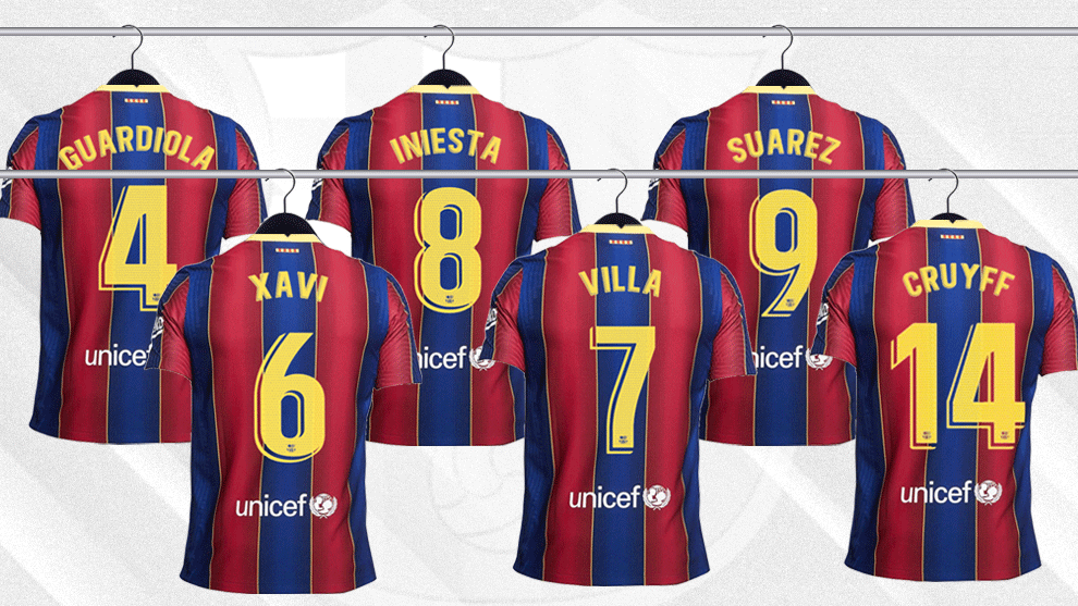 Six legendary shirts to fill at Barcelona