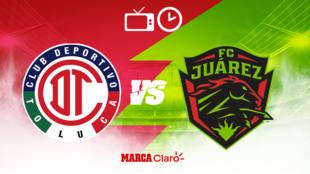Toluca vs FC Juárez: Horario y dónde ver por TV en vivo.