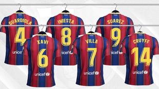 Baile de dorsales legendarios en el Barça