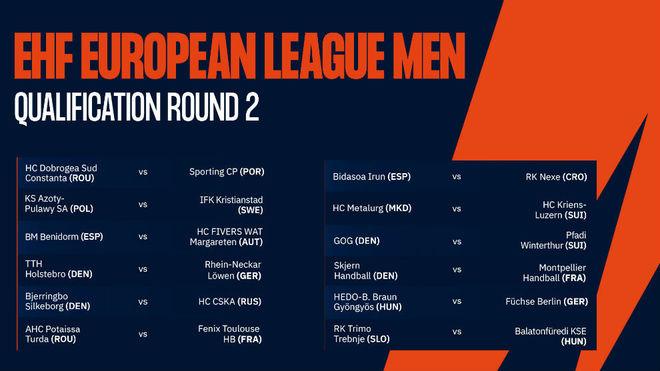 Enfrentamientos de la segunda eliminatoria de la Liga Europea /