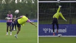 James deja su sello en el primer entreno con el Everton: ¡golazos de tijera y vaselina!