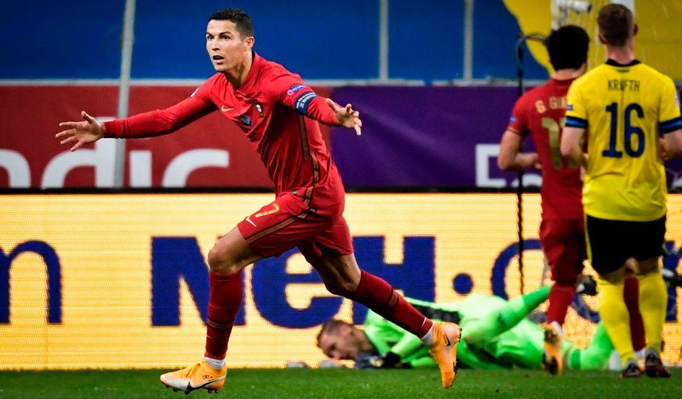Cristiano Ronaldo scores 100th Portugal goal in win over Sweden