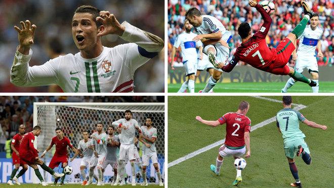 Ha marcado 101... ¡y algunos son brutales! Top 10 de golazos de Cristiano con Portugal