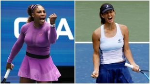 Fotomontaje Serena Williams y Tsvetana Pironkova