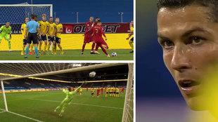 Su gol 100 con Portugal tenía que ser así: ¡bestial libre directo!