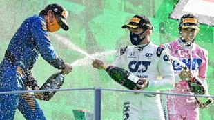 Sainz, Gasly y Stroll en Monza.