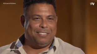 Ronaldo Nazario, en un momento del programa 'Universo Valdano' de...
