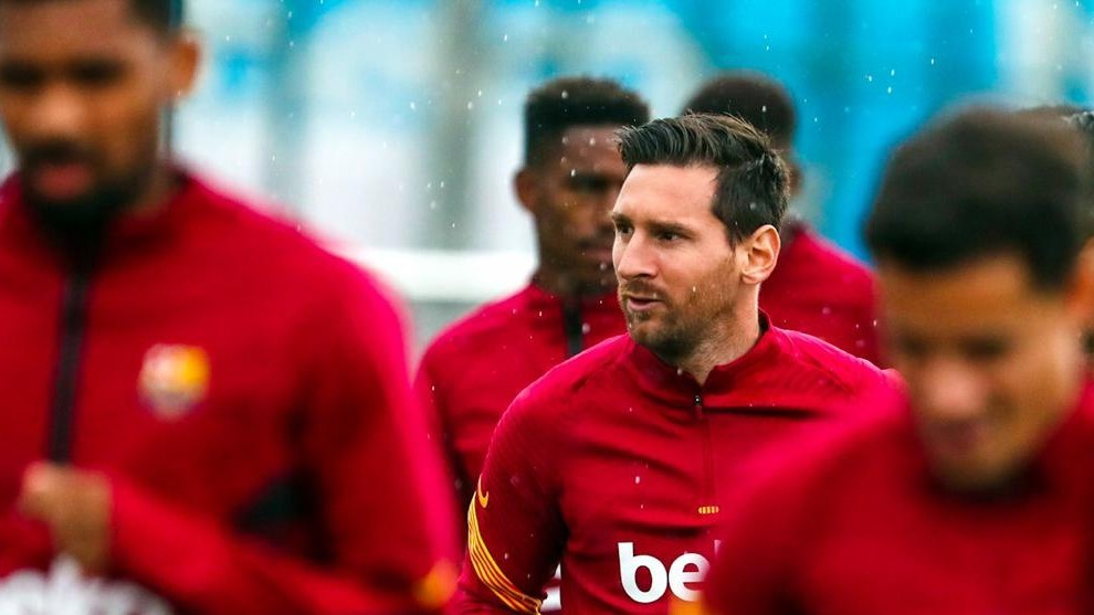 Messi is finally back with the main group