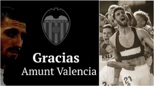 Piccini se despide de la afición del Valencia