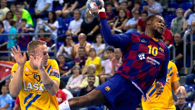 Sorhaindo, en un partido de la Liga de Campeones contra el Celje...