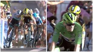 La etapa 11 del Tour finalizó con una polémica manioBra de Sagan...