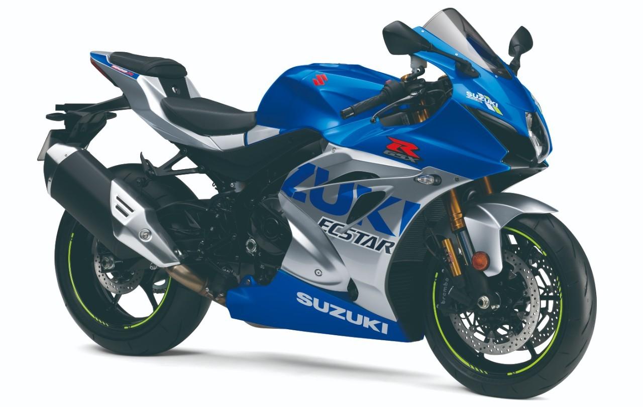 Homenajea los colores de las antiguas Suzuki de Gran Premio.