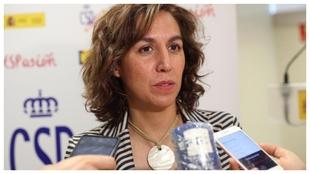 Irene Lozano, secretaria de Estado, en una intervención.