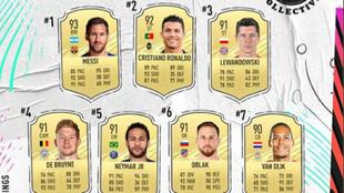 Messi, el mejor en FIFA 21.