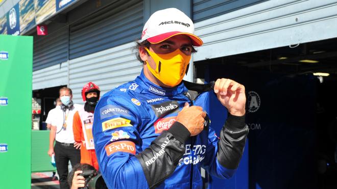 Carlos Sainz, piloto de McLaren y amigo de Checo Pérez.