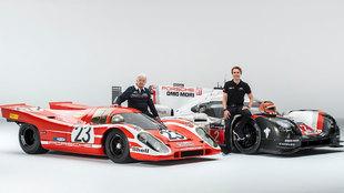 Cuatro vencedores de Le Mans se han reunido para este homenaje.