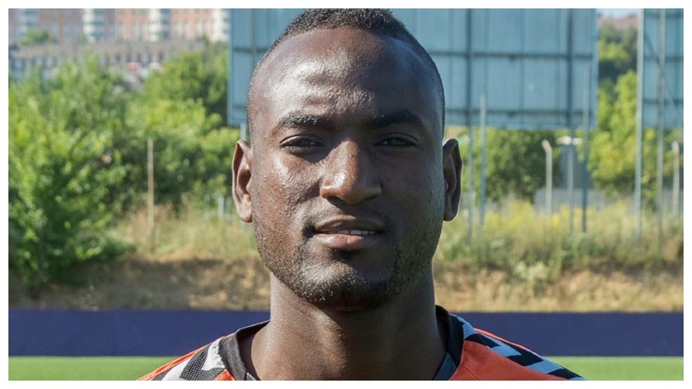El Hacen, en un entrenamiento con el Valladolid. Real Valladolid.