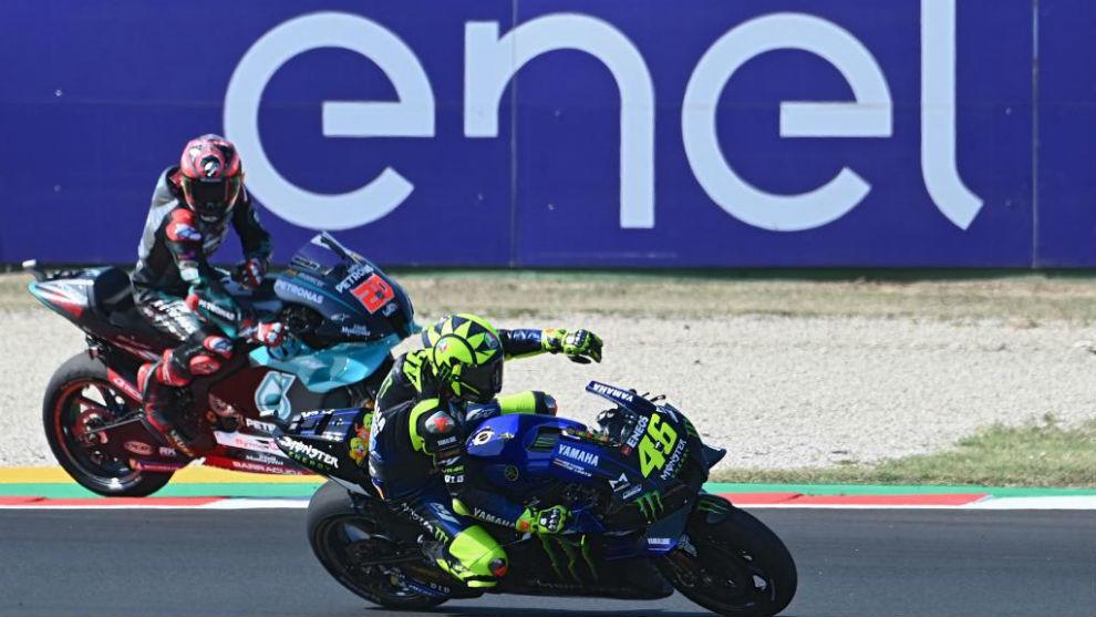 Rossi supera a Quartararo en la sesión de la tarde en Misano.