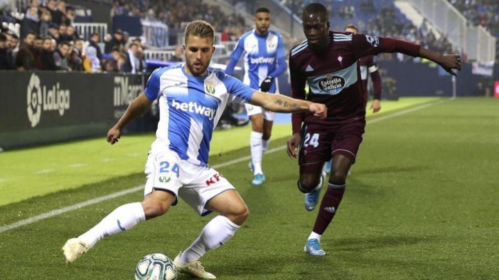 Kevin Rodrígues durante un partido con el Leganés