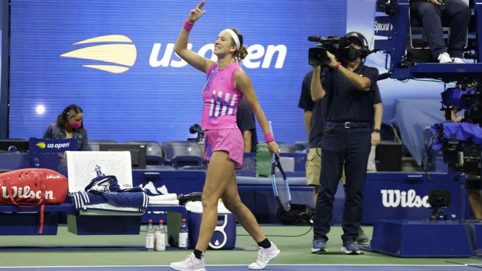 Azarenka celebra su pase a la final tras derrotar a Serena
