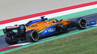 Carlos Sainz, durante el GP de La Toscana 2020..