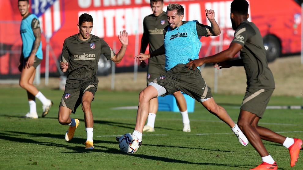 Hector Herrera in training.
