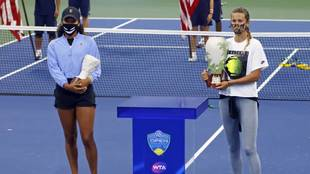 Victoria Azarenka y Naomi Osaka en Flushing Meadows