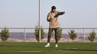 Simeone, en su último entrenamiento en San Rafael.