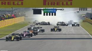 Un par de accidentes en el GP de Toscana dejaron fuera a siete...