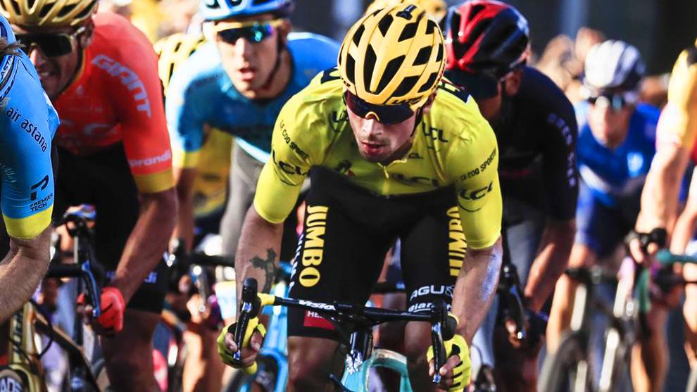 Primoz Roglic, durante una etapa del presente Tour de Francia