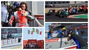 Morbidelli y Bagnaia triunfaron en Misano; en Moto2 lo hicieron Marini...